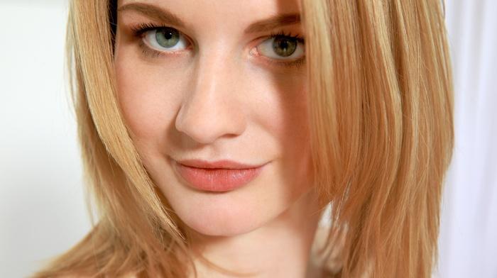 green eyes, blonde