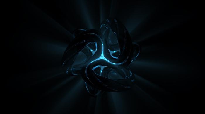 abstract, digital art, sphere, artificial lights, black background, lights
