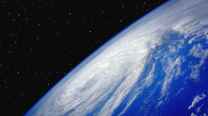 clouds, stars, nature, space, Earth, hurricane