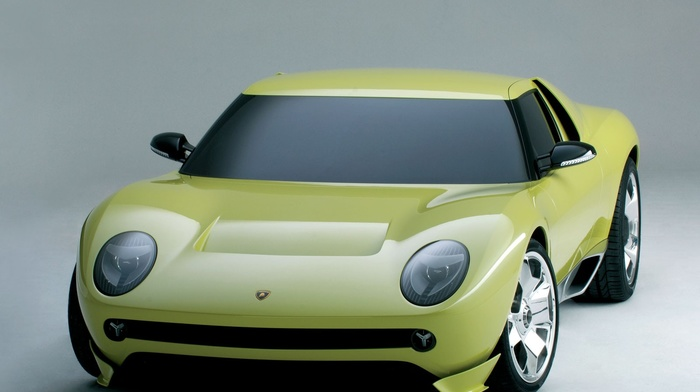 car, Lamborghini, yellow, Lamborghini Miura