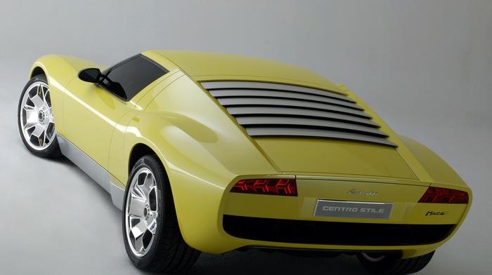car, Lamborghini, yellow cars, Lamborghini Miura