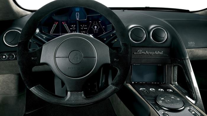 car interior, Lamborghini, car