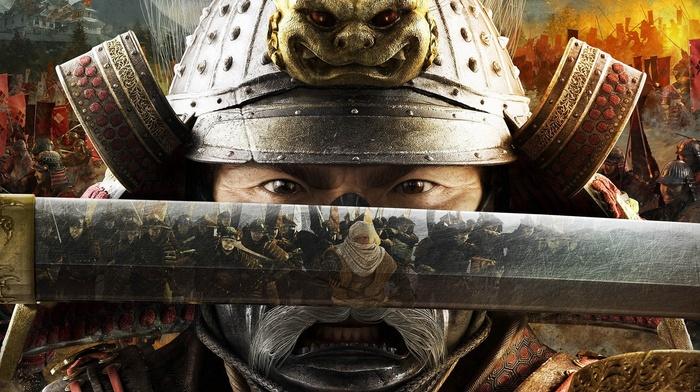 battle, video games, reflection, samurai, Total War Shogun 2, katana, warrior
