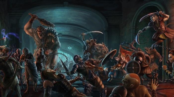 fantasy art, artwork, battle