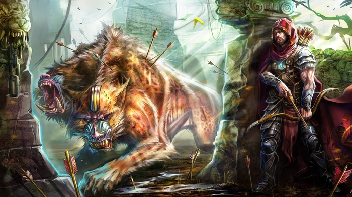 warrior, creature, artwork, fantasy art