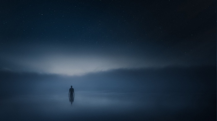 animations, mist, river, clouds, space, alone