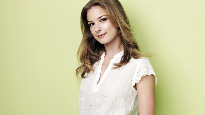 blonde, girl, Emily Vancamp, actress, celebrity, green background