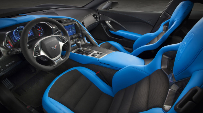 Chevrolet Corvette C7, car interior, Chevrolet Corvette Stingray, vehicle, dashboards, car, Grand Sport