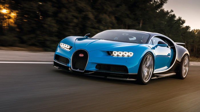 car, Bugatti Chiron, vehicle, motion blur, Super Car, road