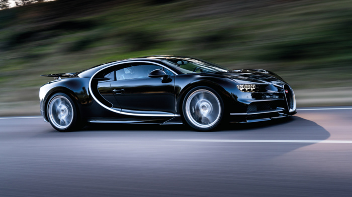 Super Car, vehicle, Bugatti Chiron, road, motion blur, car