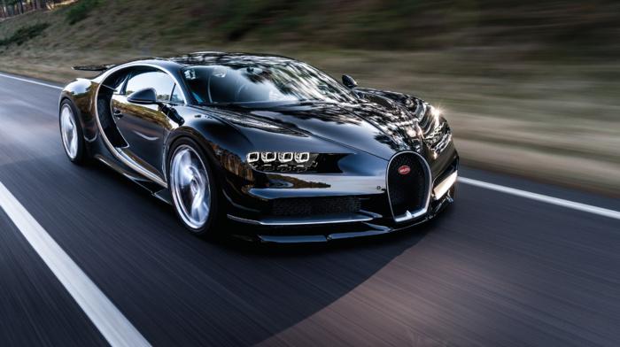 car, Bugatti Chiron, road, motion blur, Super Car, vehicle
