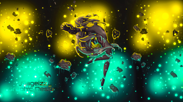 yellow, Deadman Wonderland, blue, anime, Shiro Deadman Wonderland