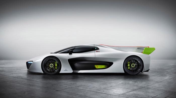 electric car, vehicle, Pininfarina H2 Speed, concept cars, car