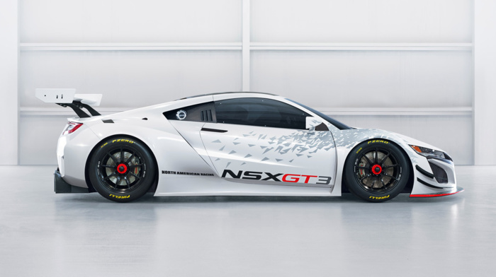 race cars, Acura NSX GT3, Acura NSX, car, vehicle