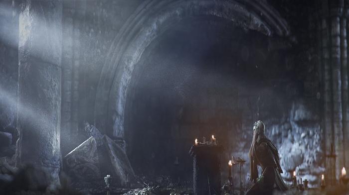 knight, fighting, Dark Souls III, midevil, Dark Souls, video games, castle, Gothic, landscape, sword, fire, dark