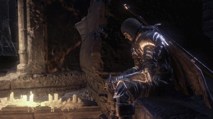 knight, landscape, midevil, video games, Gothic, Dark Souls III, dark, Dark Souls, sword, fire, fighting, castle