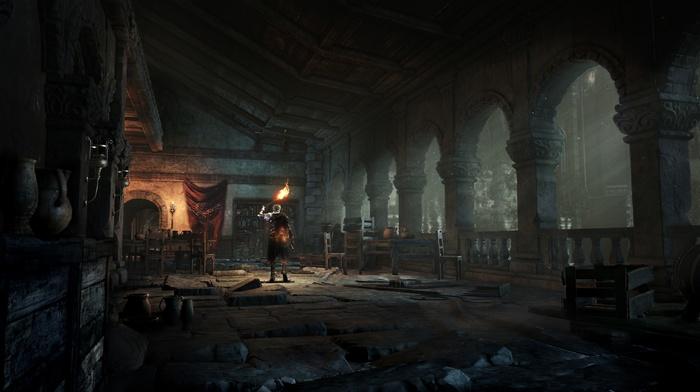 landscape, midevil, fire, castle, sword, Dark Souls III, Dark Souls, Gothic, video games, dark, fighting, knight