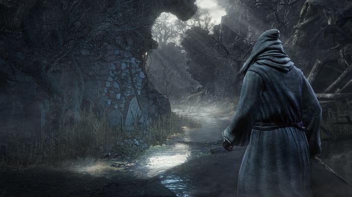 video games, Dark Souls, medieval, dark, Dark Souls III, landscape, Gothic, knight, magic