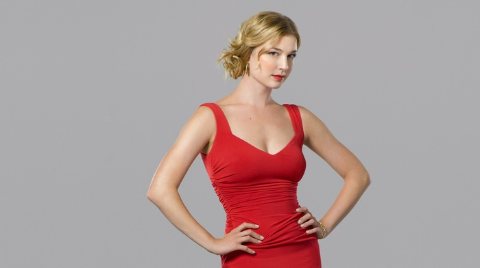 red, blonde, dress, girl, Emily Vancamp, celebrity