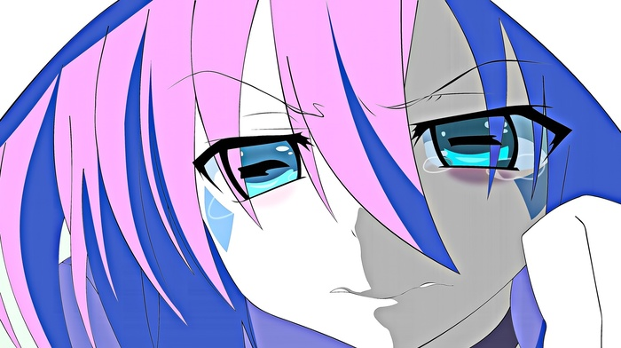 crying, Yumekui Merry, aqua eyes, anime, anime girls, pink hair