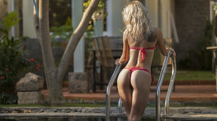 summer, ass, bikini, Lelyak Konstantin, swimming pool, girl