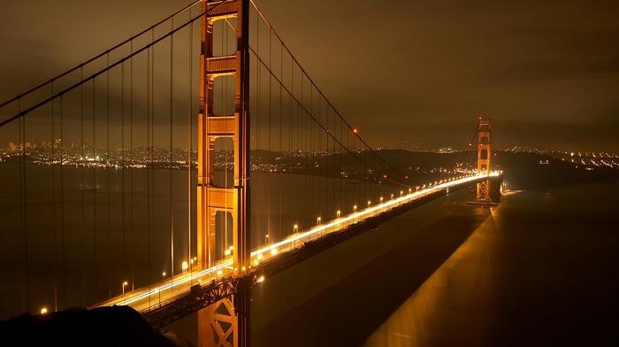 lights, photography, night, architecture, bridge