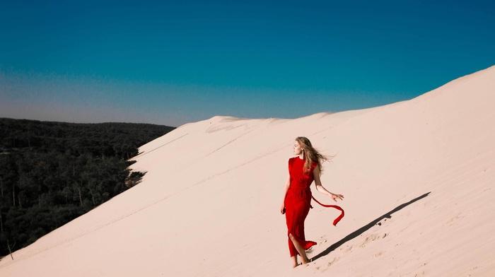 girl, desert, model, sand, girl outdoors