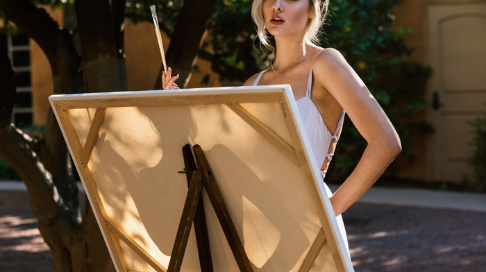 painting, girl, painters, model, blonde