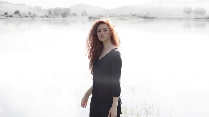 girl, model, girl outdoors, redhead