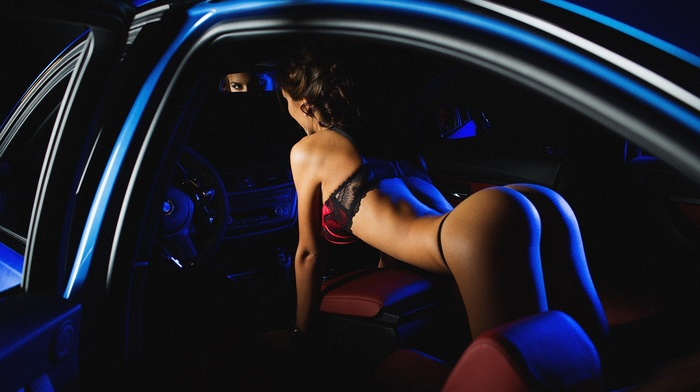 girl with cars, vehicle, car, model, BMW, ass, girl, Aleksandr Mavrin, Viki Odintcova