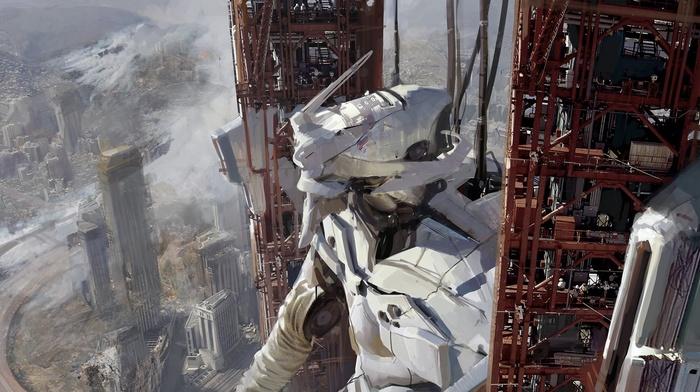 artwork, science fiction, mech, Neon Genesis Evangelion