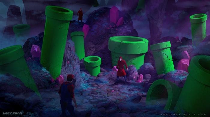 Super Mario, video games, artwork