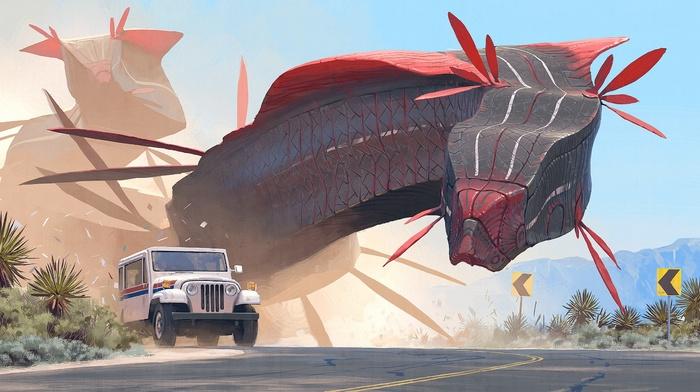 artwork, science fiction, Simon Stlenhag