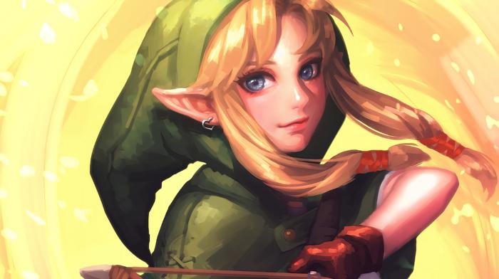 fantasy art, The Legend of Zelda, video games, Linkle, artwork