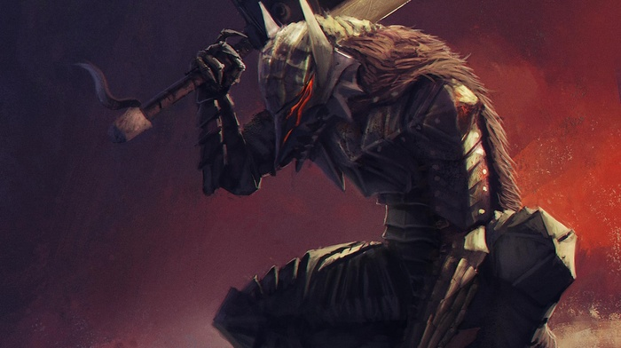 Guts, artwork, anime, creature, Berserk, fantasy art