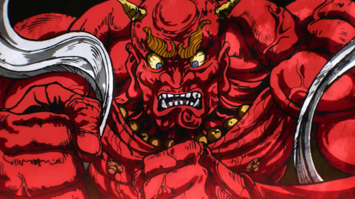 horns, One, Punch Man, red, artwork, demon