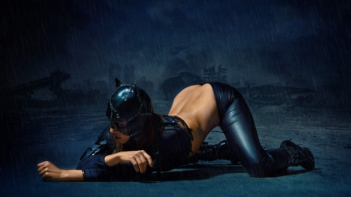 model, cosplay, Catwoman, girl