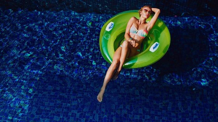 swimming pool, girl, model