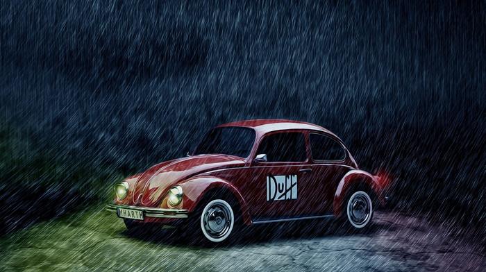 rain, Duff, vehicle, Volkswagen, Volkswagen Beetle, car