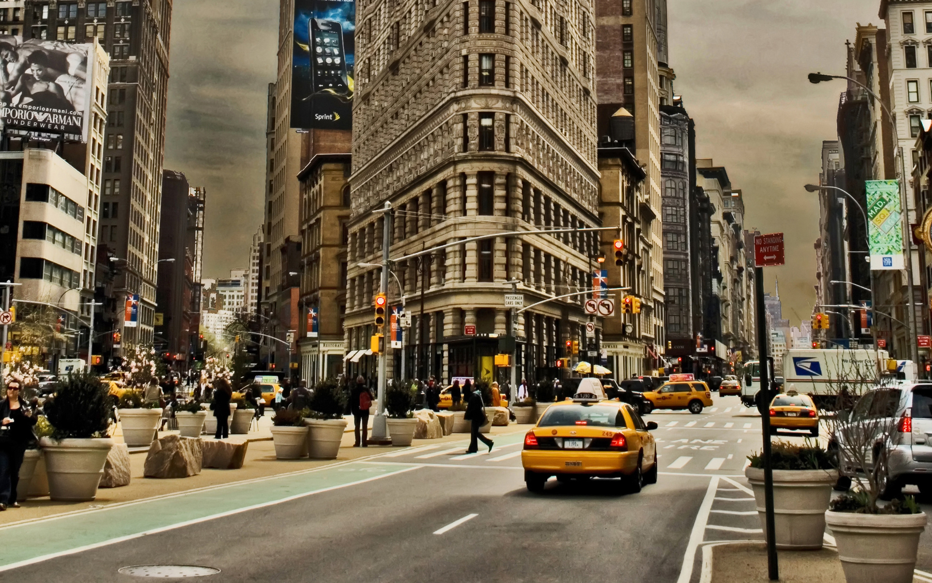 Cities Houses People New York City Street