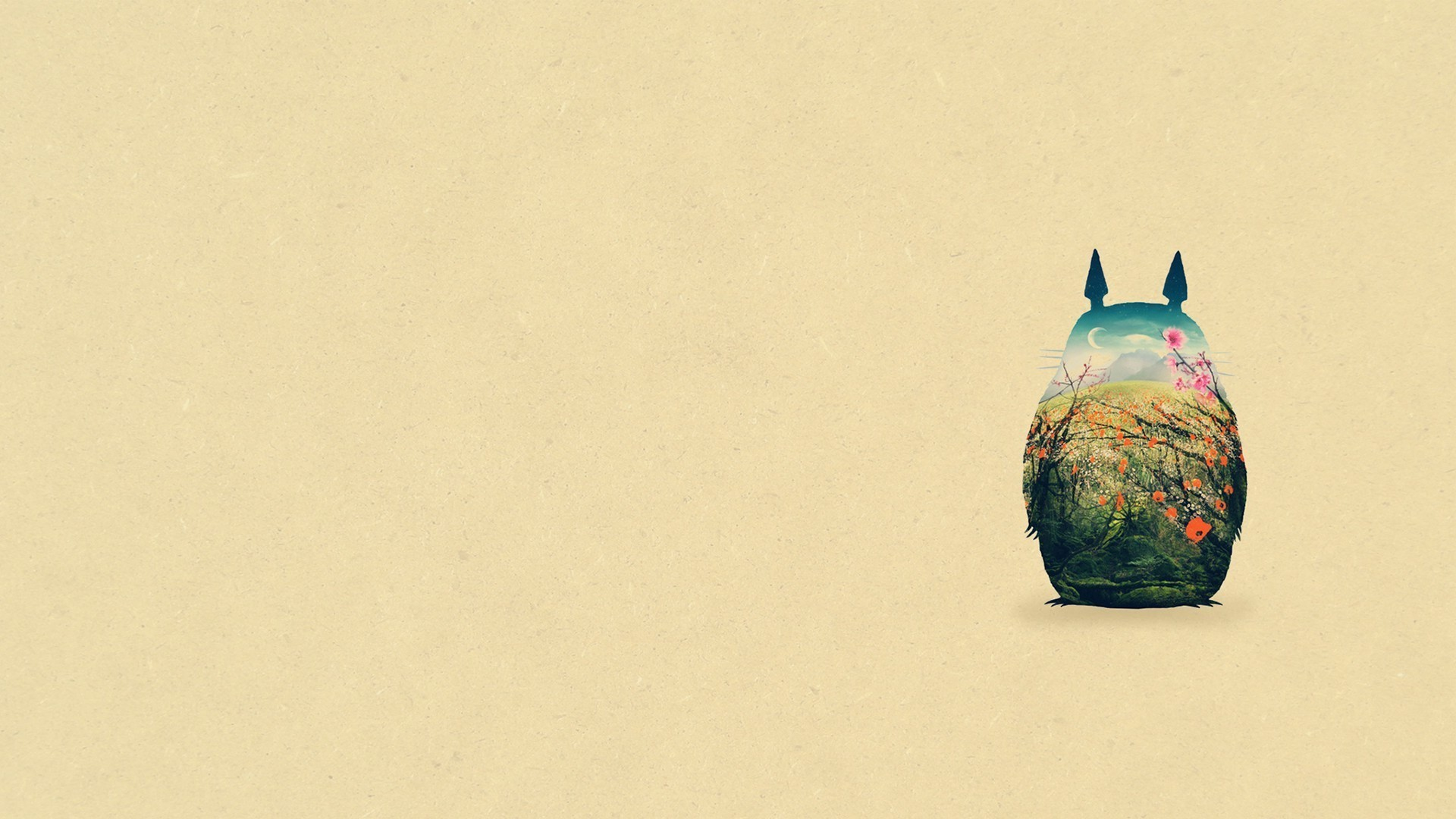 Simple background my neighbor totoro studio ghibli totoro download wallpaper voltagebd