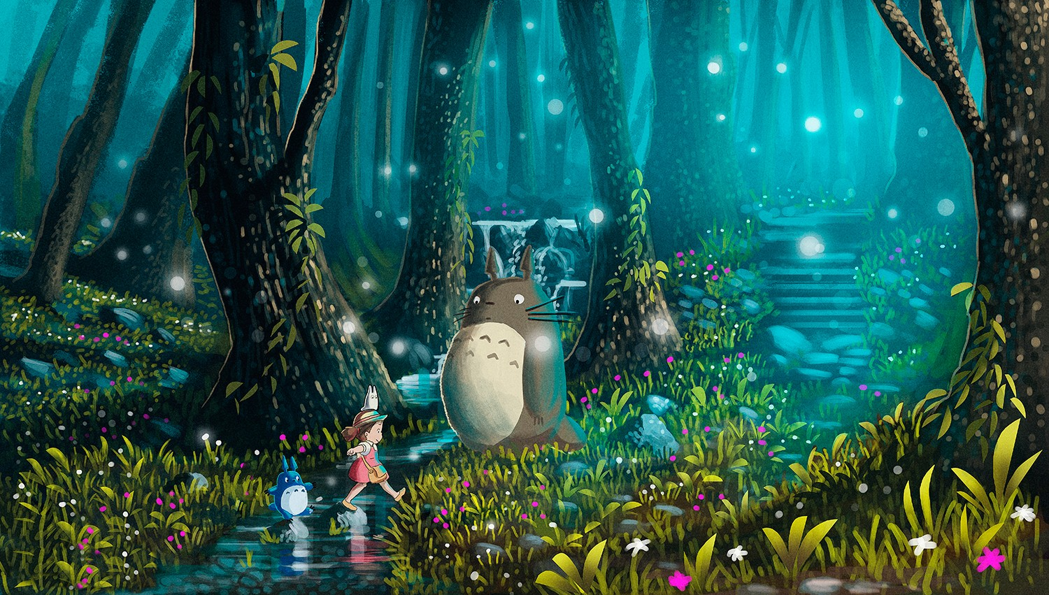 Simple Wallpaper Forest Totoro - wallls  Perfect Image Reference_219419 .jpg