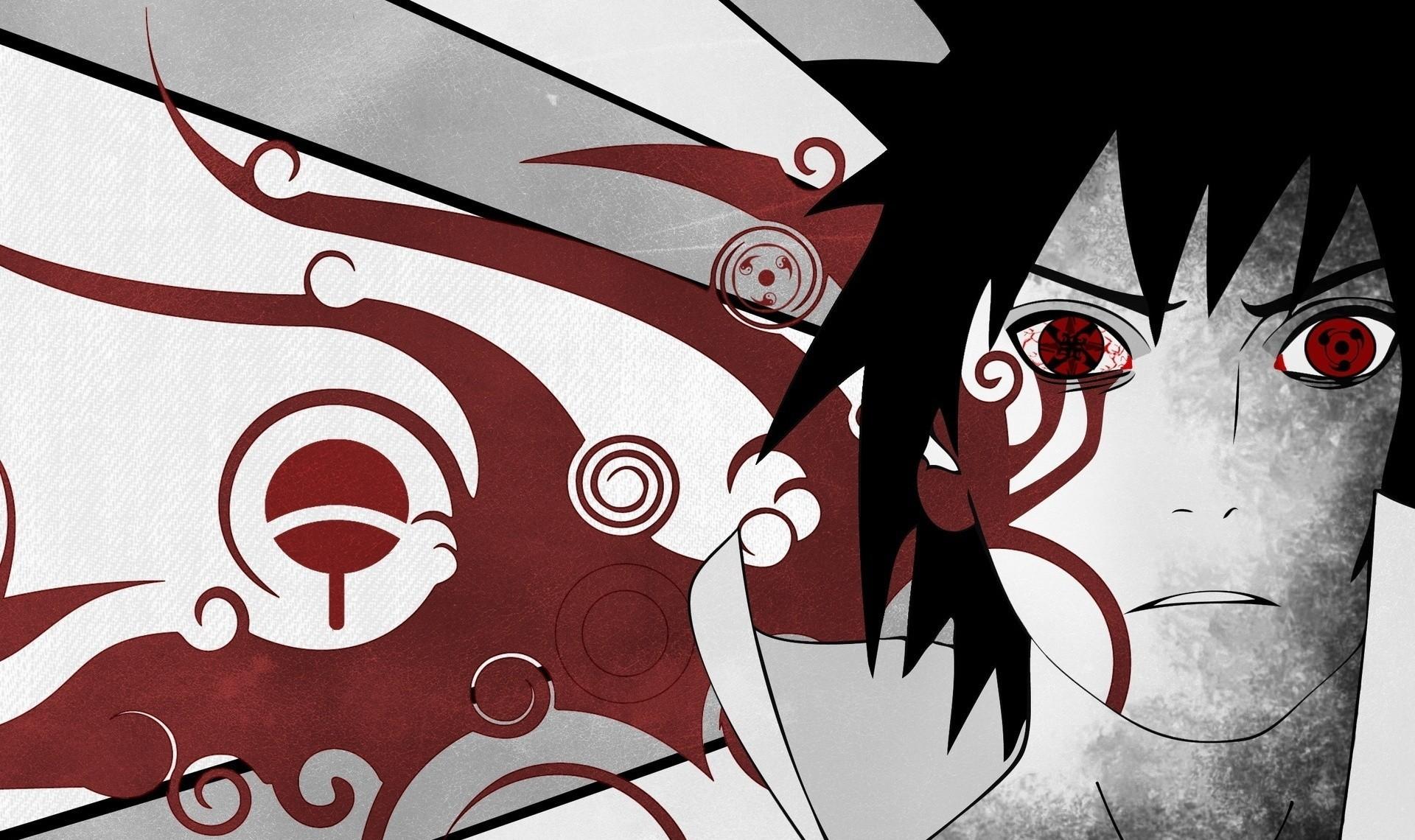 Selective Coloring, Sharingan, Uchiha Sasuke, Naruto