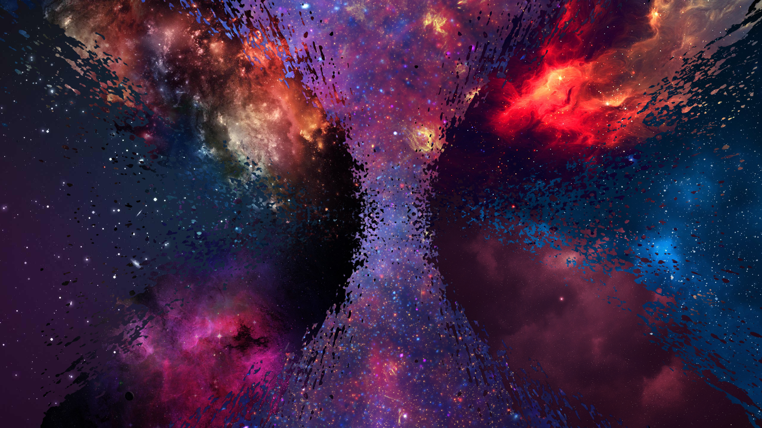 space, shattered, milky way, nova, galaxy, spray - wallpaper #94342