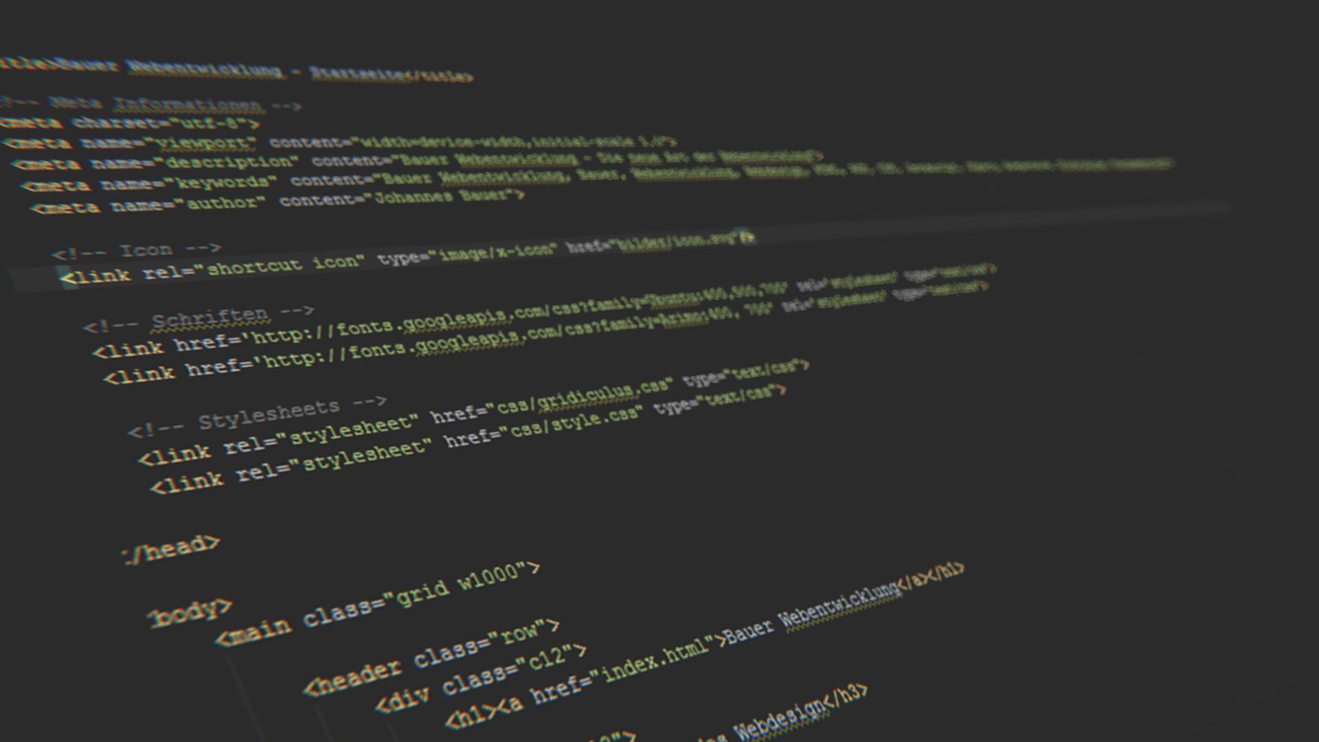 3D Dark Gray Code HTML Depth Of Field