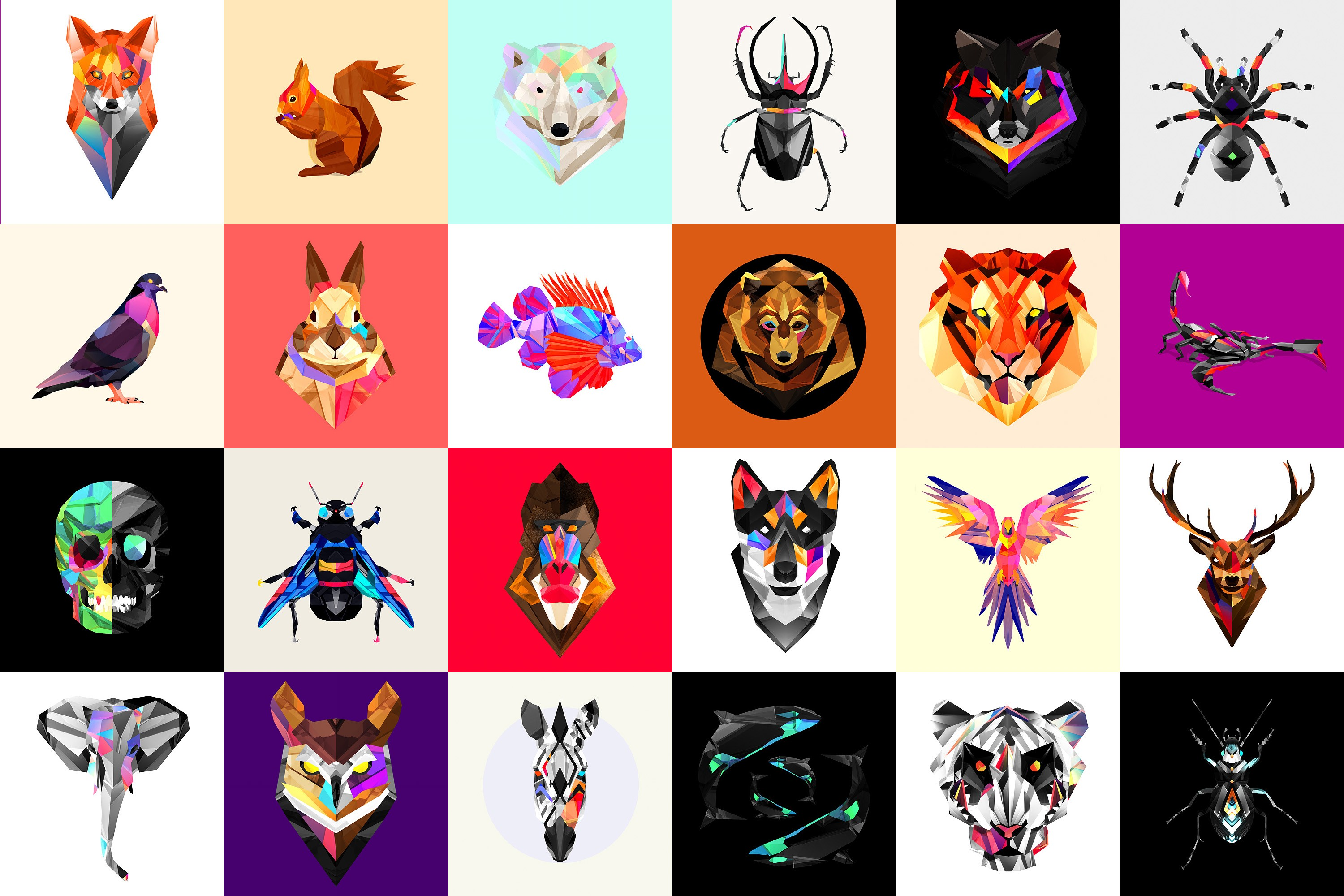 Facets Low Poly Animals Justin Maller