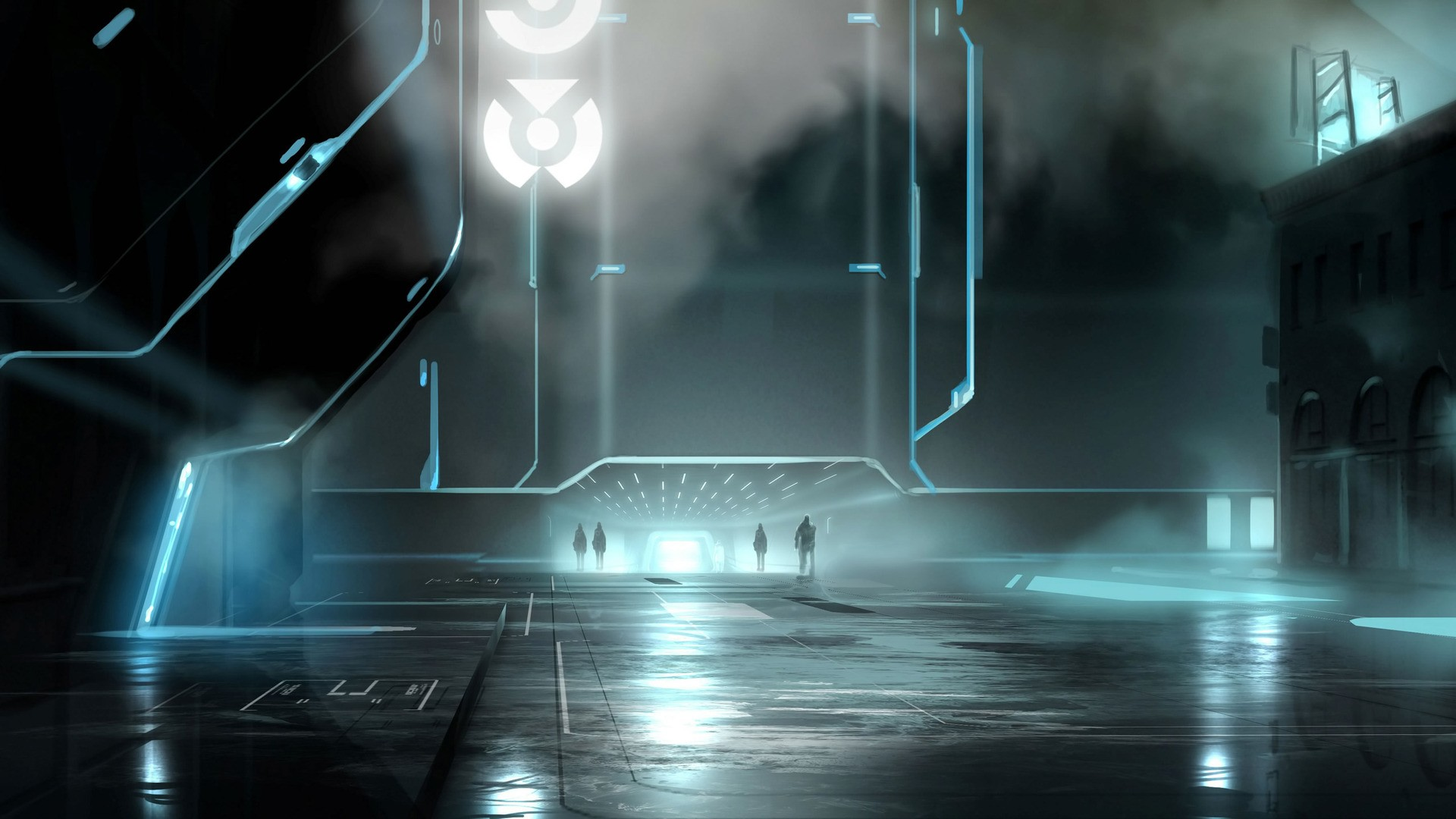 City Futuristic Fantasy Art Tron Artwork