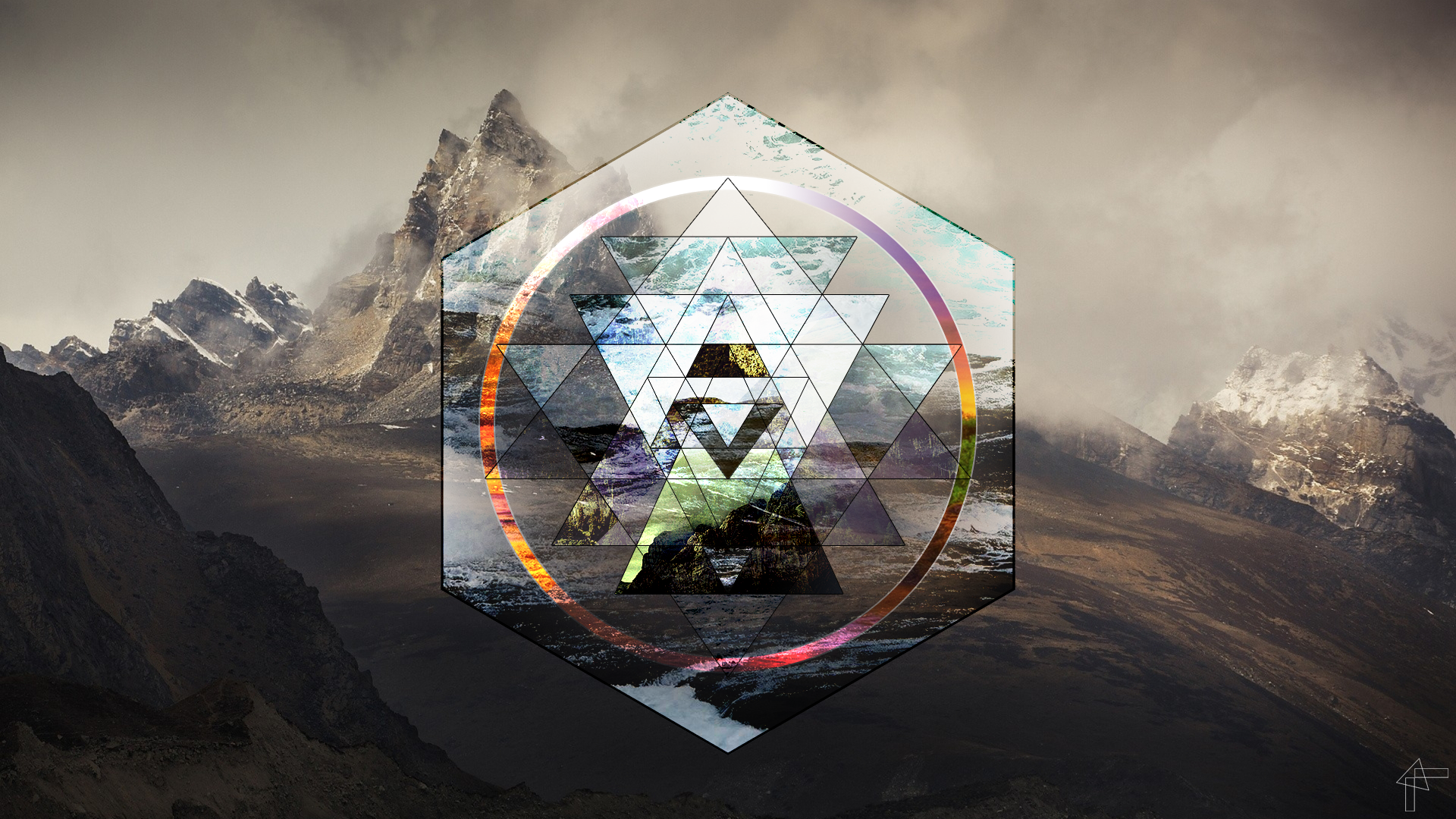 Amazing Wallpaper Mountain Hexagon - wallls  Graphic_527293.png