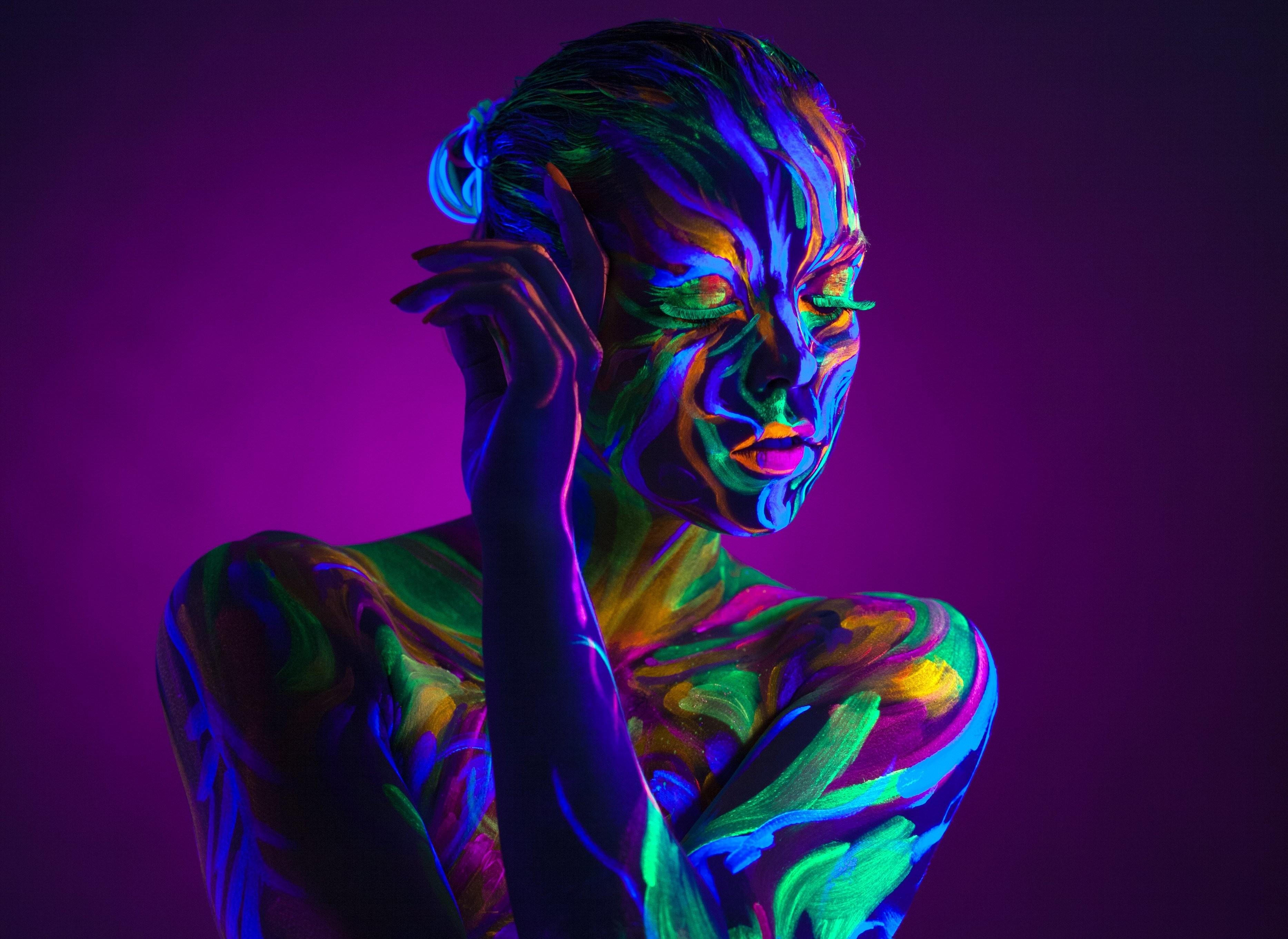 Neon Glow Body Paints