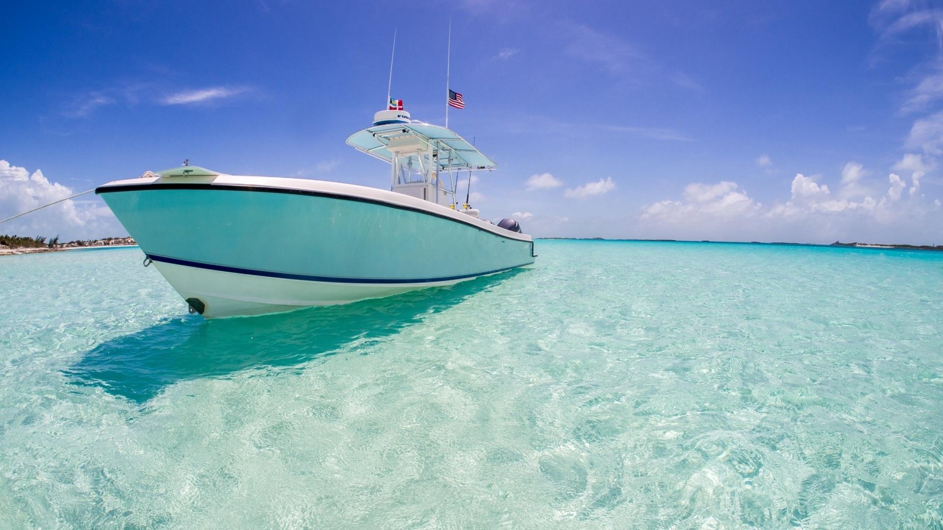 картинка остров и лодка